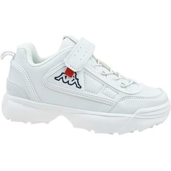 kengät Lapset Matalavartiset tennarit Kappa Rave NC K Valkoiset