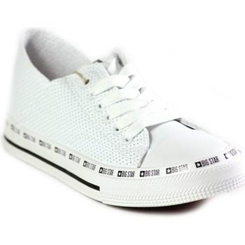 kengät Naiset Matalavartiset tennarit Big Star FF274024 Valkoiset