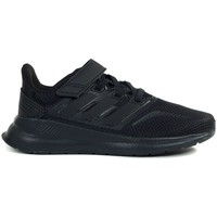 kengät Lapset Juoksukengät / Trail-kengät adidas Originals Runfalcon C Mustat