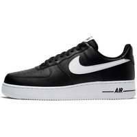 kengät Miehet Matalavartiset tennarit Nike Air Force 107 AN20 Mustat