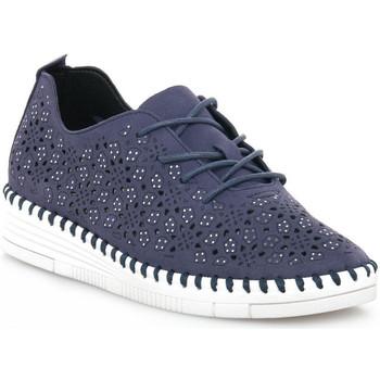 kengät Naiset Matalavartiset tennarit Grunland BLU F6VIVY Blu