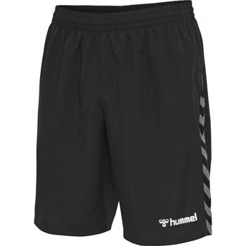 vaatteet Miehet Shortsit / Bermuda-shortsit Hummel Short  hmlAUTHENTIC Training noir/blanc