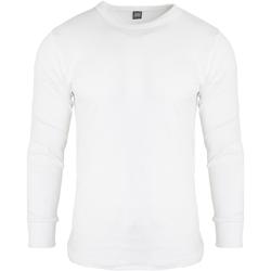 vaatteet Miehet T-paidat pitkillä hihoilla Floso  White
