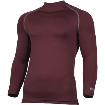 vaatteet Miehet T-paidat pitkillä hihoilla Rhino RH001 Maroon