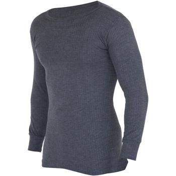 vaatteet Miehet T-paidat pitkillä hihoilla Floso  Charcoal