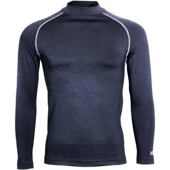 vaatteet Miehet T-paidat pitkillä hihoilla Rhino RH001 Navy Heather