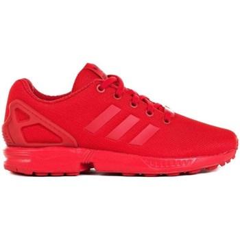 kengät Lapset Matalavartiset tennarit adidas Originals ZX Flux J Punainen