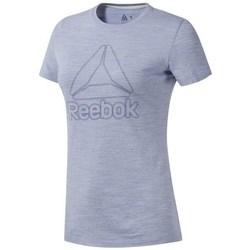 vaatteet Naiset Lyhythihainen t-paita Reebok Sport TE Marble Logo Tee Harmaat
