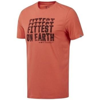 vaatteet Miehet Lyhythihainen t-paita Reebok Sport RC Fittest ON Earth Oranssin väriset