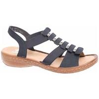 kengät Naiset Sandaalit ja avokkaat Rieker 6285014 Mustat, Ruskeat