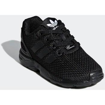 kengät Lapset Matalavartiset tennarit adidas Originals ZX Flux EL I Mustat