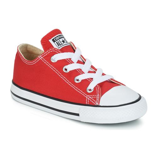 kengät Lapset Matalavartiset tennarit Converse CHUCK TAYLOR ALL STAR CORE OX Punainen
