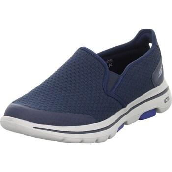 kengät Miehet Derby-kengät & Herrainkengät Skechers GO Walk 5 Valkoiset, Tummansininen