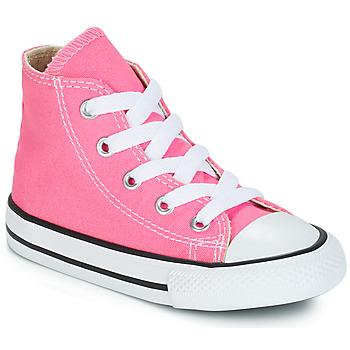 kengät Tytöt Korkeavartiset tennarit Converse CHUCK TAYLOR ALL STAR CORE HI Pink