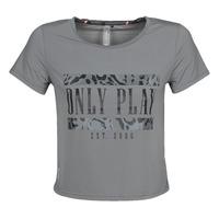 vaatteet Naiset Lyhythihainen t-paita Only Play  Harmaa