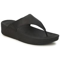 kengät Naiset Varvassandaalit FitFlop LULU LEATHER Black