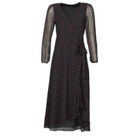 vaatteet Naiset Pitkä mekko Ikks BR30225 Musta