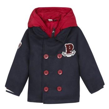 vaatteet Pojat Paksu takki 3 Pommes 3R41023-04 Laivastonsininen