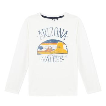 vaatteet Pojat T-paidat pitkillä hihoilla 3 Pommes 3R10005-19-C Valkoinen