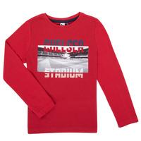 vaatteet Pojat T-paidat pitkillä hihoilla 3 Pommes 3R10015-37-C Red