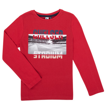 vaatteet Pojat T-paidat pitkillä hihoilla 3 Pommes 3R10015-37-C Punainen