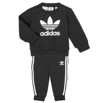 vaatteet Lapset Kokonaisuus adidas Originals CREW SET Black