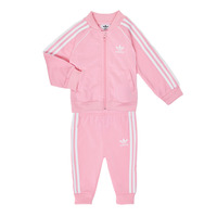 vaatteet Tytöt Kokonaisuus adidas Originals SST TRACKSUIT Vaaleanpunainen