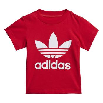 vaatteet Lapset Lyhythihainen t-paita adidas Originals TREFOIL TEE Punainen