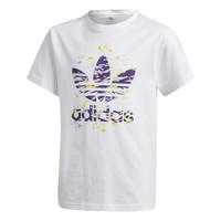 vaatteet Tytöt Lyhythihainen t-paita adidas Originals TREF TEE Valkoinen