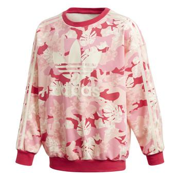 vaatteet Tytöt Svetari adidas Originals CREW Vaaleanpunainen