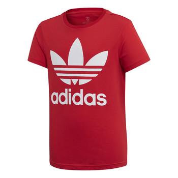 vaatteet Lapset Lyhythihainen t-paita adidas Originals TREFOIL TEE Red