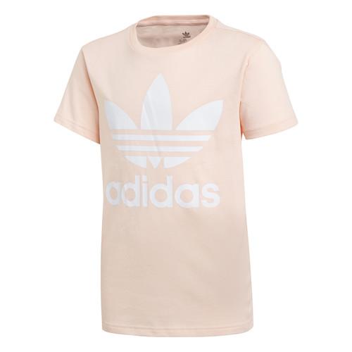 vaatteet Tytöt Lyhythihainen t-paita adidas Originals TREFOIL TEE Pink