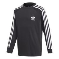 vaatteet Pojat T-paidat pitkillä hihoilla adidas Originals 3STRIPES LS Black