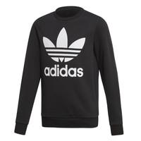 vaatteet Lapset Svetari adidas Originals TREFOIL CREW Black