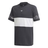 vaatteet Pojat Lyhythihainen t-paita adidas Originals PANEL TEE Harmaa / Valkoinen