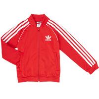 vaatteet Pojat Ulkoilutakki adidas Originals SST TRACKTOP Red