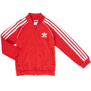 vaatteet Pojat Ulkoilutakki adidas Originals SST TRACKTOP Punainen