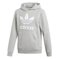 vaatteet Pojat Svetari adidas Originals TREFOIL HOODIE Harmaa