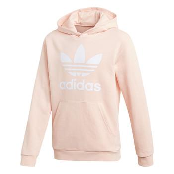 vaatteet Tytöt Svetari adidas Originals TREFOIL HOODIE Vaaleanpunainen