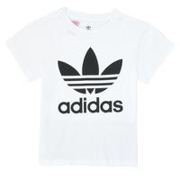 vaatteet Lapset Lyhythihainen t-paita adidas Originals TREFOIL TEE White