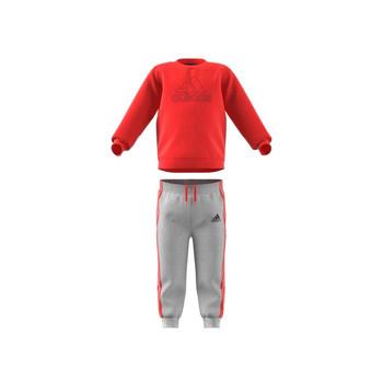 vaatteet Lapset Kokonaisuus adidas Performance MH LOG JOG FL Red / Grey