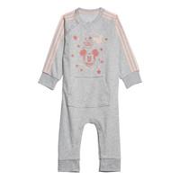 vaatteet Tytöt pyjamat / yöpaidat adidas Performance INF DY MM ONE Valkoinen