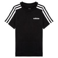 vaatteet Pojat Lyhythihainen t-paita adidas Performance YB E 3S TEE Black