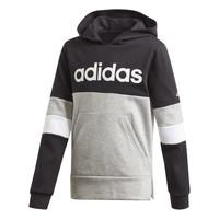 vaatteet Pojat Svetari adidas Performance YB LIN CB HD FL Black / Grey