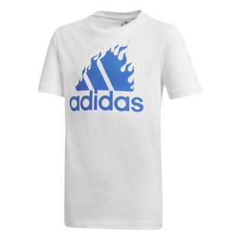vaatteet Pojat Lyhythihainen t-paita adidas Performance JB BOS GRAPH Valkoinen