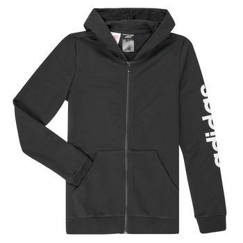 vaatteet Tytöt Svetari adidas Performance YG E LIN FZ HD Black