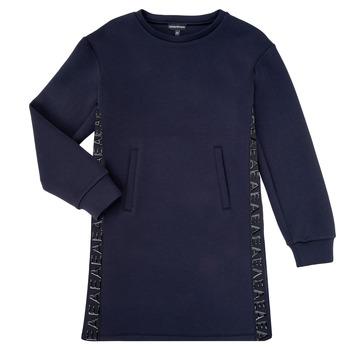 vaatteet Tytöt Lyhyt mekko Emporio Armani 6H3A07-1JDSZ-0920 Laivastonsininen