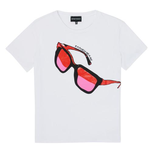 vaatteet Tytöt Lyhythihainen t-paita Emporio Armani 6H3T7T-3J2IZ-0100 White