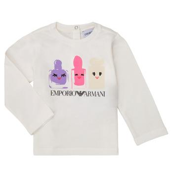 vaatteet Tytöt T-paidat pitkillä hihoilla Emporio Armani 6HET02-3J2IZ-0101 Valkoinen