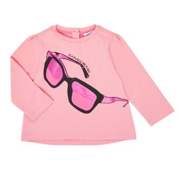 vaatteet Tytöt T-paidat pitkillä hihoilla Emporio Armani 6HET02-3J2IZ-0315 Vaaleanpunainen